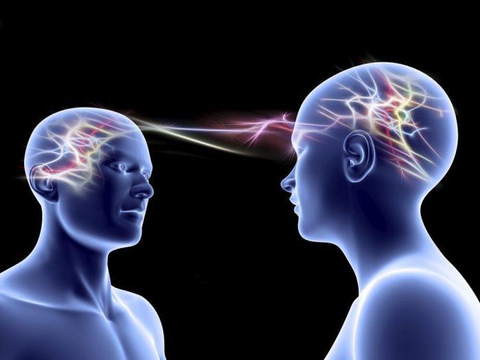 Une relation extrasensorielle à distance entre deux esprits